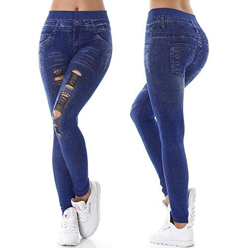 SL1 - Medias deportivas - skinny - para mujer (1) Blau