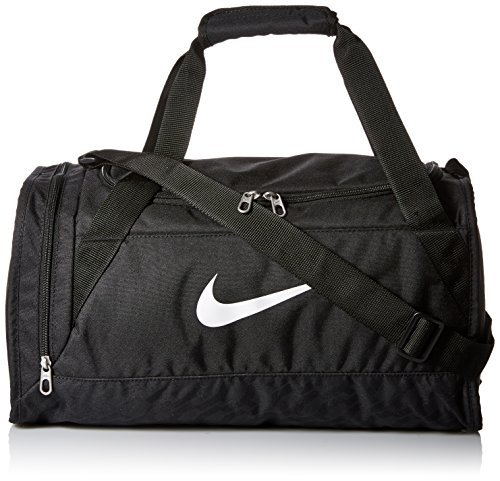 Nike Brasilia 6 Duffel Bag Black/White Size X-Small (Brasilia Nike Bag compare prices)