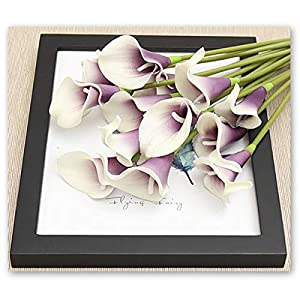 HoveBeaty Calla Lily Bridal Wedding Festival Decor Bouquet Real Touch Latex Flower Bouquet Pack of 20 2
