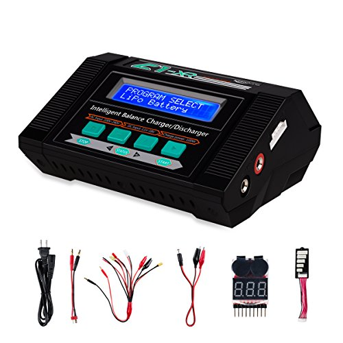 Lipo Battery Charger with Voltage Checker,Keenstone 10A 100W AC/DC 1S-6S Digital Battery Pack Balance Charger/Discharger for Li-Po Li-Hv Li-Ion Li-Fe NiMH Ni-Cd Pb
