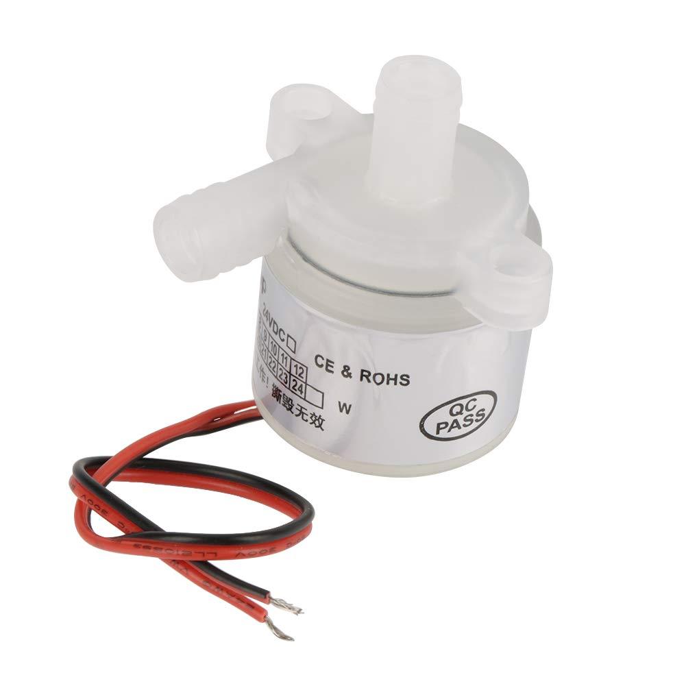 Akozon Micro Pump 12V DC 6W Food Grade Brushless Water Pump White Mini 1 pcs for Medical Instruments