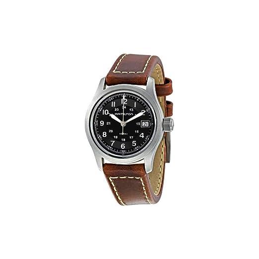 Hamilton Reloj Analogico para Mujer de Cuarzo con Correa en Cuero H68311533: Amazon.es: Relojes