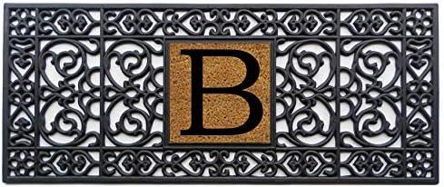 Calloway Mills 170011741B Rubber Monogram Doormat, 17 x 41 Letter B