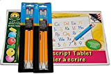 4 Rainbow Preschool Pencils and Manuscript Writing Guide Pad