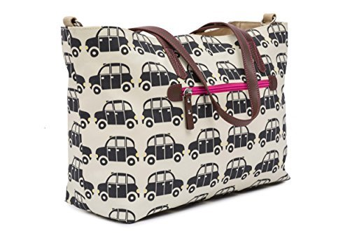 Pink Lining Notting Hill Tote Negro Cabs Bolso cambiador