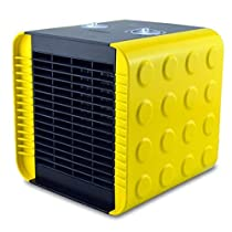 1500W Fan Heater with Two Heat Settings and Cool Blow,PTC Ceramic Fever,Household Portable Electric Heater , yellow