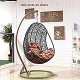 hanging basket chair cushion, hammock swing seat cushion with pillow,rattan hanging swing chair