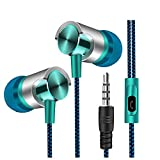 Cute Headphones, UNBRUVO Universal 3.5mm in-Ear Stereo Earbuds Earphone with Mic for Cell Phone