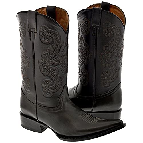 da38ae45053 low-cost Texas Legacy - Men s Dark Brown Classic Full Leather Western  Cowboy Boots 3X