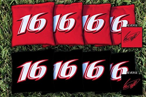 Victory Tailgate 8 NASCAR Greg Biffle #16 Regulation Corn Filled Cornhole Bags by Victory Tailgate