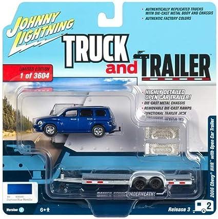 Johnny Lightning 2006 Chevy Hhr Truck And Trailer Jlbt008 In Orange