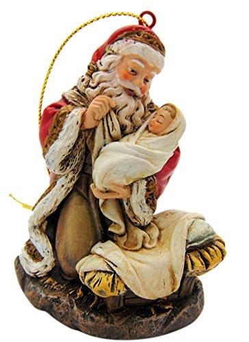 Kneeling Santa Claus Christmas Tree Ornament 3 Inches Long