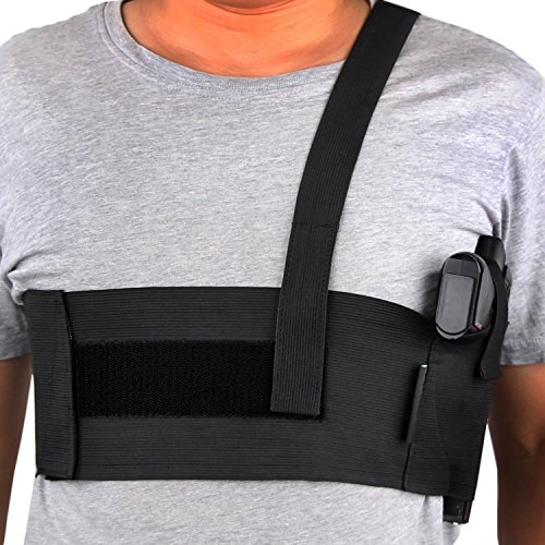 Yeeper Deep Concealment Shoulder Holster Right Hand Draw Black XL (Best Cross Draw Concealment Holster)