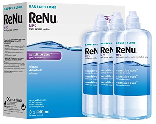 Bausch&Lomb ReNu MPS Multi- Purpose Solution for Sensitive Eyes 3x240ml (3...