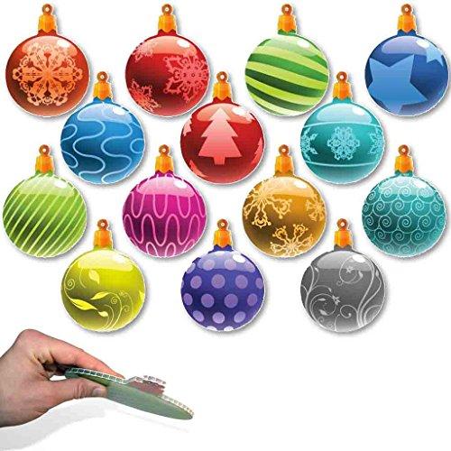 Ornaments Inflatable Christmas (Christmas Yard Decorations - Traditional Hanging Christmas Ornaments (FLAT Globe Shape))