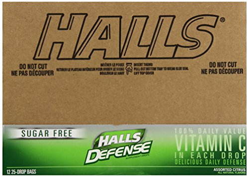 HALLS Defense Sugar Free Supplement Drops