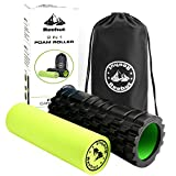 #8: REEHUT 2-in-1 Foam Roller Trigger Point massage for Painful, Tight muscles + Smooth Rollers for Rehabilitation! FREE USER E-BOOK + FREE CARRY CASE! …
