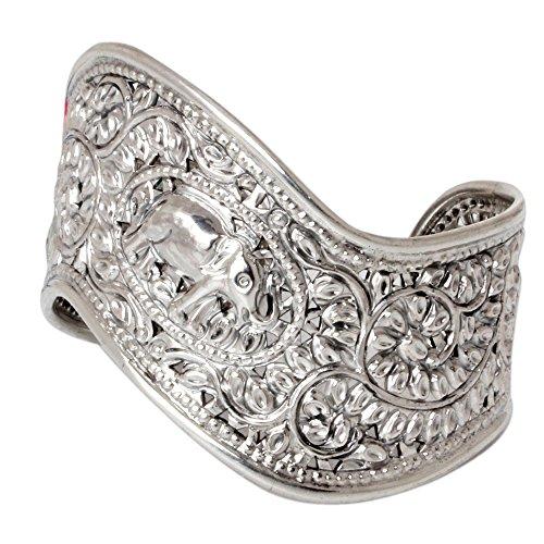 Siamese Elephant - NOVICA .925 Sterling Silver Cuff Bracelet, Siamese Elephant'