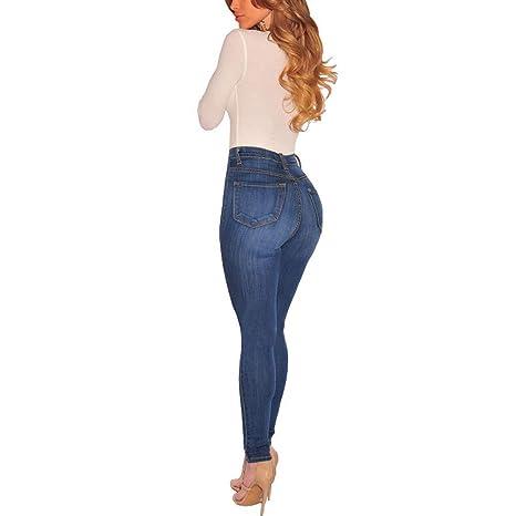 Leggins Vaqueros Mujer Elasticos, Pantalones Anchos Mujer ...