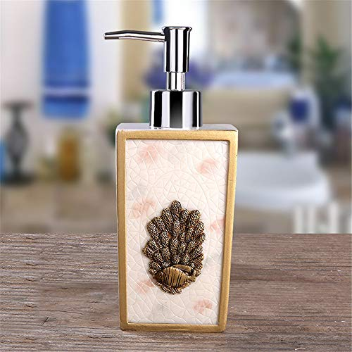 ZWNSWD Resin Soap Dispenser Coral Element + Small Fish Element Soap Separator for Lotions Essential Oils Liquid Soaps Shampoos Dishwashing Agents,B