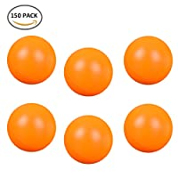 Royaliya 150 PCS Pelotas Ping Pong Tenis de Mesa Plástico Ping Pong Bola Blanco Naranja