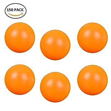 Royaliya 150 PCS Pelotas Ping Pong Tenis de Mesa Plástico Ping Pong Bola Blanco Naranja (Naranja): Amazon.es: Deportes y aire libre