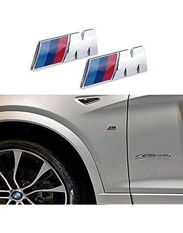 Appson 2 pcs M rendimiento deporte aleación insignia emblema adhesivo para coche