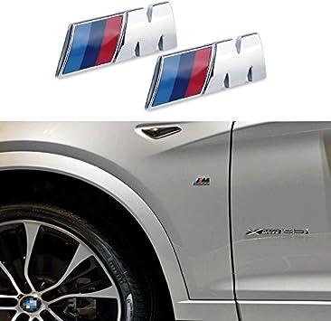 Appson 2pcs M rendimiento deporte aleación insignia emblema adhesivo para coche