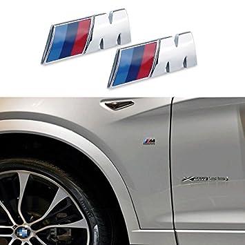 Appson 2 pcs M rendimiento deporte aleación insignia emblema adhesivo para coche: Amazon.es: Coche y moto