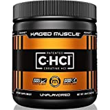 KAGED MUSCLE, Creatine HCl Powder, Patented Creatine Powder, Creatine, Highly Soluble, Unflavored, 75 Servings