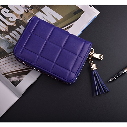 Genuine Leather Credit Card Wallet Women's Card Holder for Travel and Work Small Wallet for Women by MaxGear (Image #3)