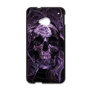 Skull HTC One M7 Cell Phone Case Black Rpvag