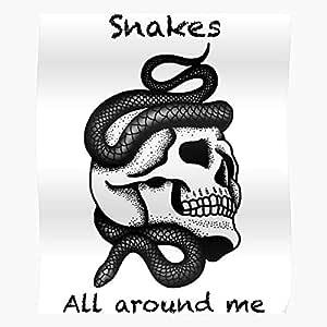 Fake Sad Head Friends Surrounded Snakes Skull Dead El