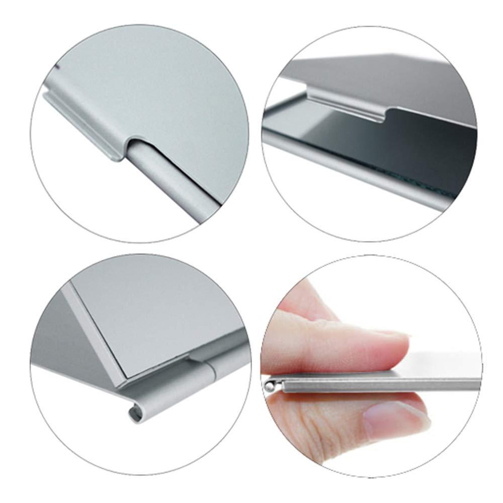 Mini Size Small Tabletop Mirror for Travel,Aluminum Shell Portable Folding Mirror(5.6/×8.4cm) Unisex Ultra Slim Durable Makeup Mirror