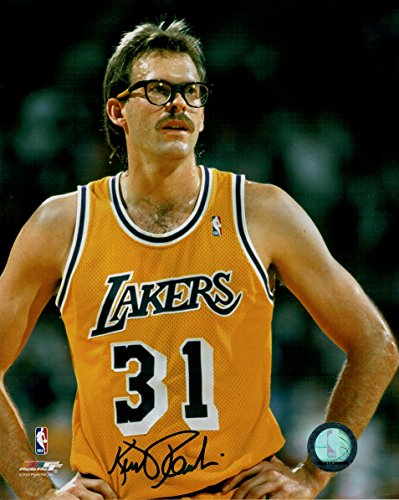 Kurt Rambis Hand Signed Autographed 8x10 Photo Los Angeles Lakers Home jersey