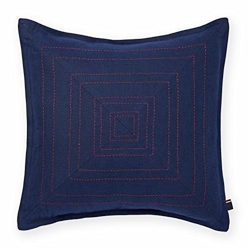 Tommy Hilfiger Pick Stitched Decorative Pillow, Navy
