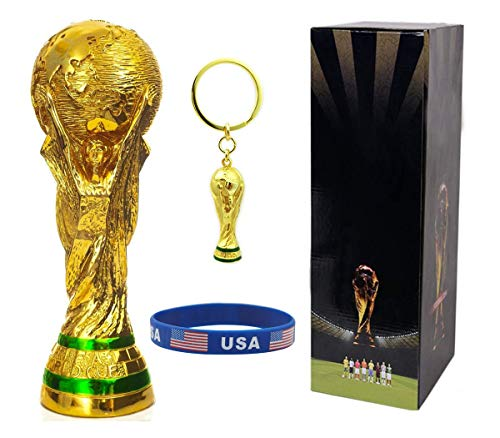 Hancel 2018 FIFA World Cup Trophy Replica Soccer Championship Trophy Fans Souvenir with Color Box - 8 Inches Tall