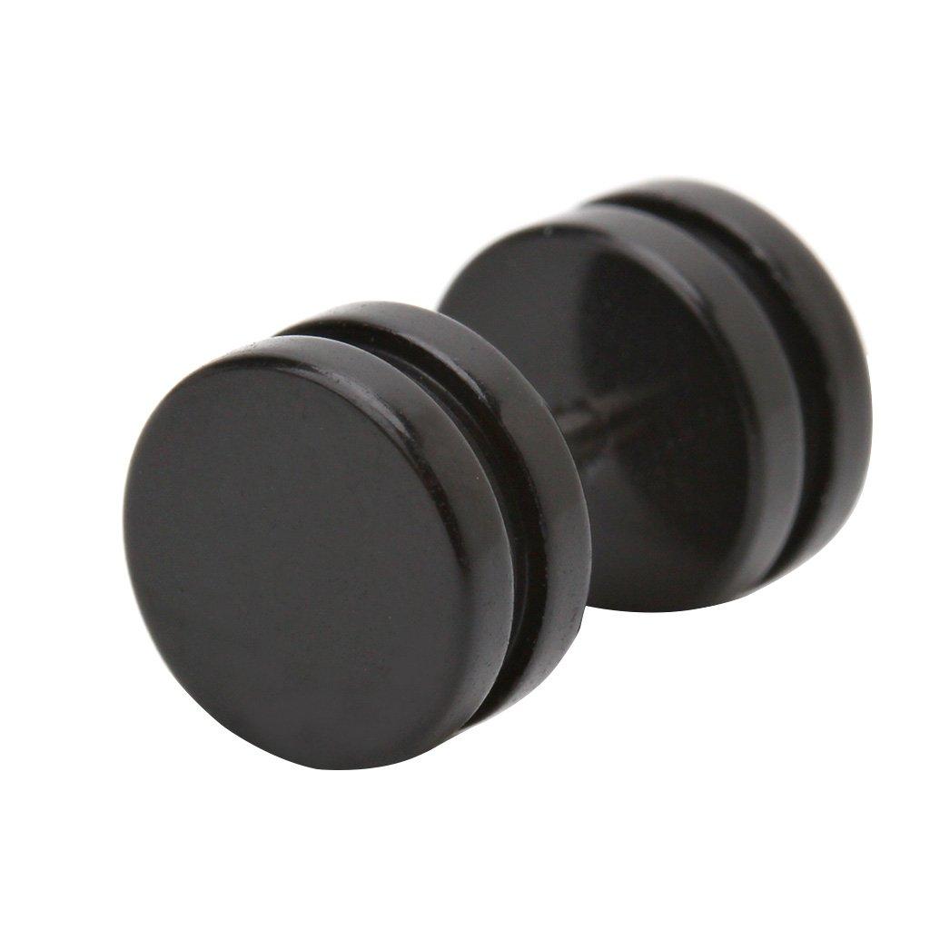 lunji negro círculo Fake Piercing - Pendientes de hombre ...