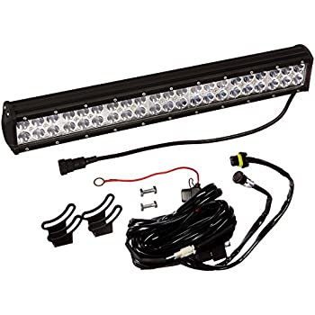amazon com opt7 c2 series 20 off road cree led light bar and this item opt7 c2 series 20 off road cree led light bar and harness flood spot auxiliary lamp combo 10000 lumen