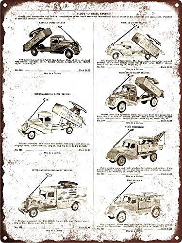 Yilooom 1941 Buddy L Steel Toys Wrecker Dump Fire Truck Metal Sign Repro 8