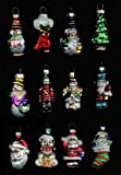 Avon Set of 12 Holiday Glass Ornaments