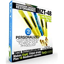 Limitless NZT-48 PLUS Restoramones - 8 Drinks+10 Capsules - Powerful, Customized and Personalized Brain-Boosting Nootropic Drink Mix, with Restoramone Prohormone Blend - and BONUS Booster Capsules.