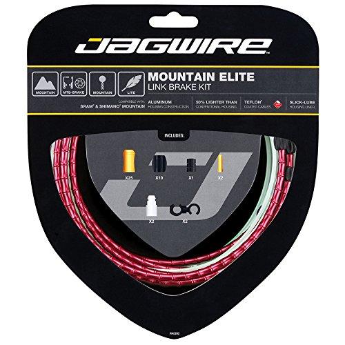 JAG WIRE(ジャグワイヤー) MOUNTAIN ELITE LINK ブレーキケーブルキット レッド MCK503 B00I46EKWG