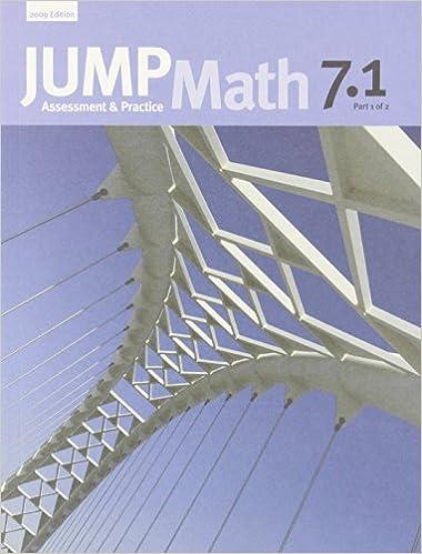 JUMP Math 7 1: Book 7, Part 1 of 2: Amazon ca: John Mighton, JUMP