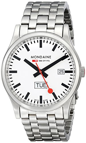 Mondaine Men's A667.30308.16SBM Sport I Day Date Steel Bracelet Watch