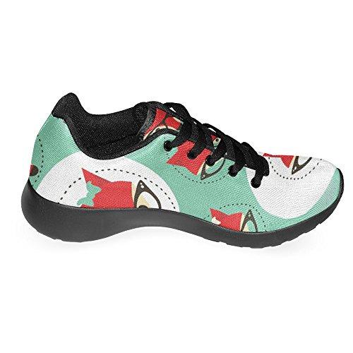 Interestprint Femmes Jogging Running Sneaker Léger Aller Facile À Pied Casual Confort Sportif Chaussures De Course Visages Renards Dans Des Lunettes Multi 1