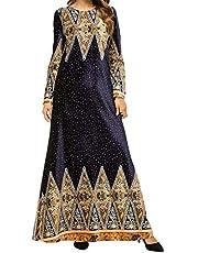 Qianliniuinc Winter Abaya Dresses for Women-Long Skirt Abayas Islamic Muslim Clothes Jalabiya Kaftan Robes