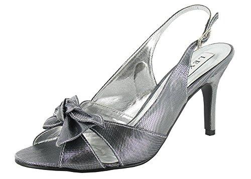 Grey femme pour LEXUS Sandales Metallic TXRTZq