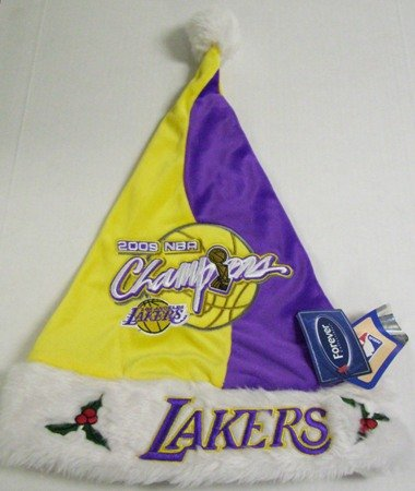 790e07466e Amazon.com   Los Angeles Lakers 09 NBA Champions Plush Santa Hat ...