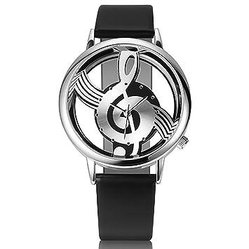Zedo Relojes Mujer Reloj Pulsera Mujer Relojes de Mujer Reloj señora Reloj de Mujer Reloj Mujer Reloj Chica Reloj analogico Reloj de Pulsera Notas Musicales ...